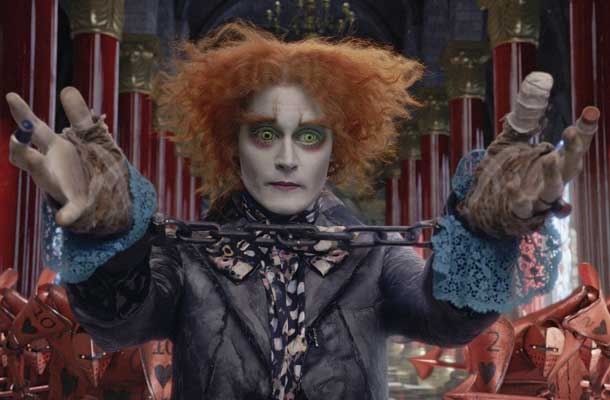 Johnny Depp schittert in Alice in Wonderland