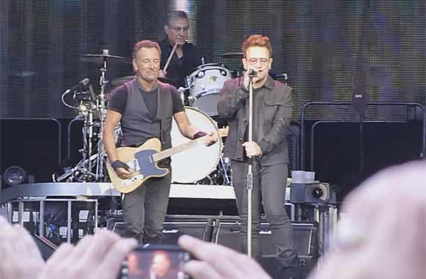 Bruce Springsteen en Bono treden samen op