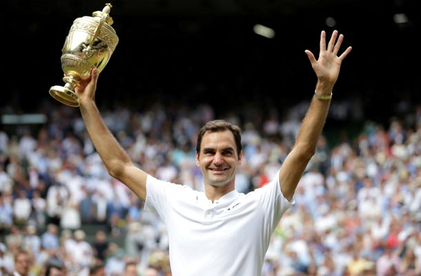 Roger Federer schrijft historie met winst Wimbledon