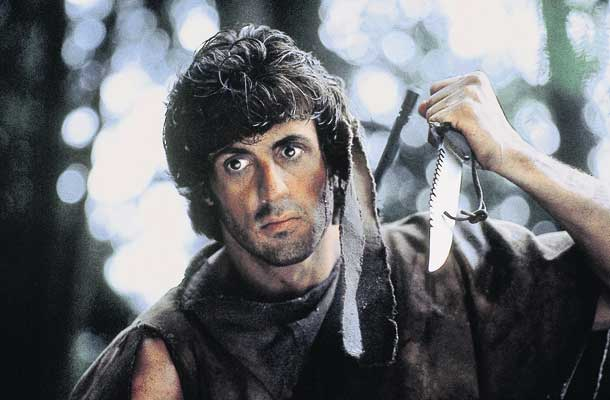 Rambo door het dolle heen in First Blood