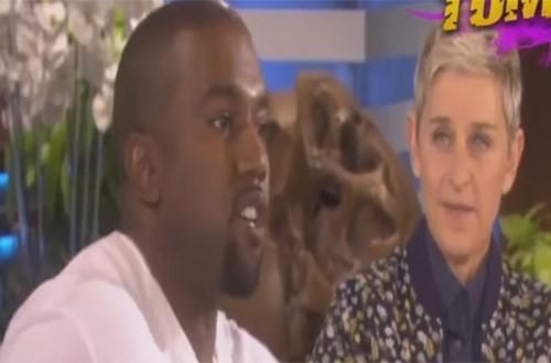 Bizarre tirade van Kanye West bij Ellen