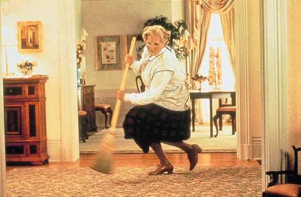 Grote verkleedpartij voor Robin Williams in Mrs. Doubtfire