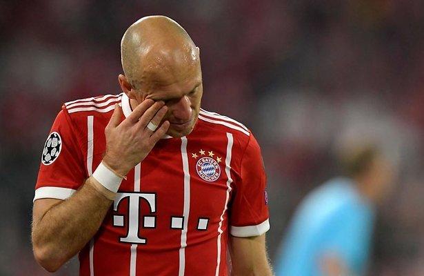 De TV van gisteren: Ruim 1,2 miljoen kijkers zien drama voor Robben in Champions League