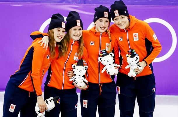 Relaydames pakken brons met wereldrecord